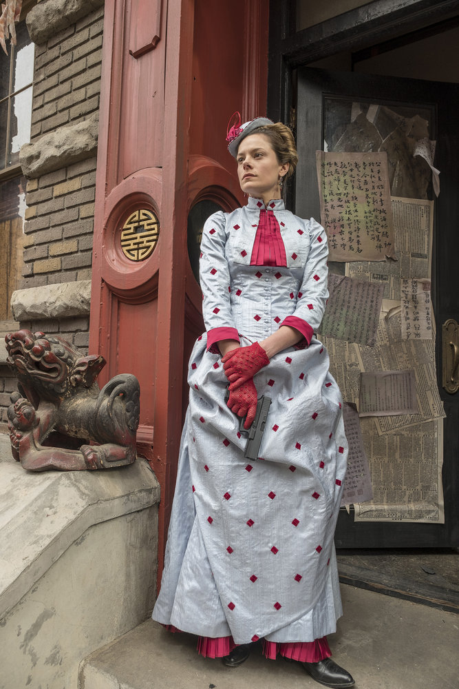 """TIMELESS -- """"A History of San Fran"""" Episode 210 -- Pictured: Tonya Glanz as Jessica -- (Photo by: Ron Batzdorff/NBC)"""