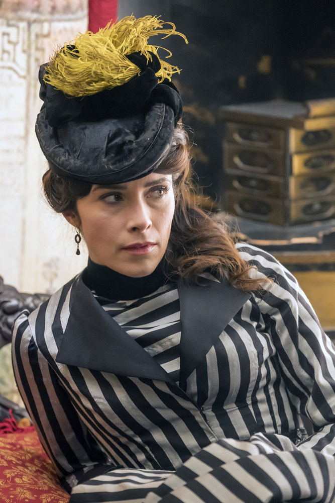 """TIMELESS -- """"A History of San Fran"""" Episode 210 -- Pictured: Abigail Spencer as Lucy Preston -- (Photo by: Ron Batzdorff/NBC)"""
