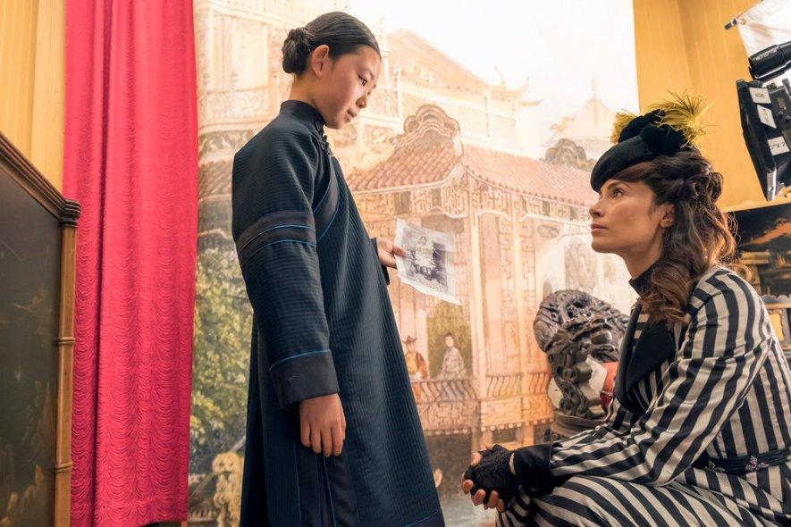 "TIMELESS -- ""A History of San Fran"" Episode 210 -- Pictured: (l-r) Megan Liu as Fei Yunshan, Abigail Spencer as Lucy Preston -- (Photo by: Ron Batzdorff/NBC)"